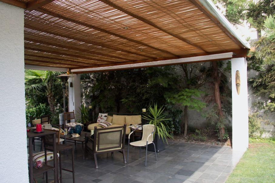 Naturalgreen 34 terraza cemento con techo en palillaje - Techos terrazas ...